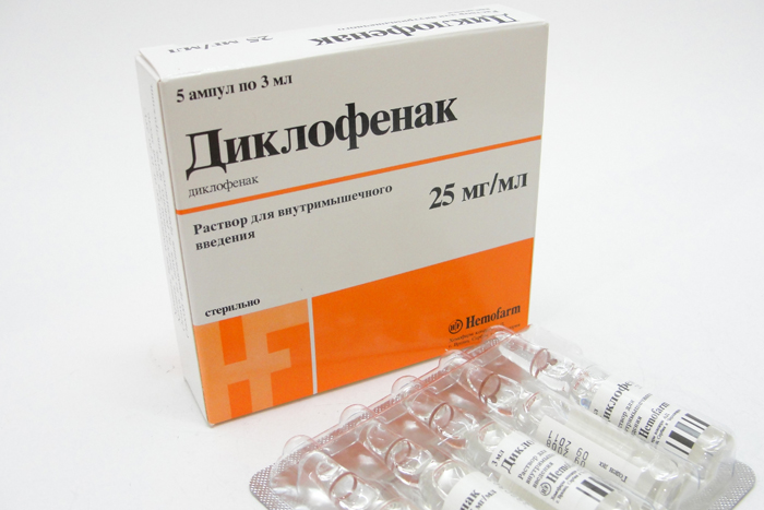 Диклофенак при лечении болевых синдромов