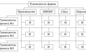 Матричная структура для технологических фирм