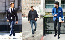 С чем носить мужские узкие джинсы
