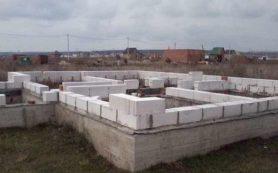 Строительство фундамента из пеноблоков