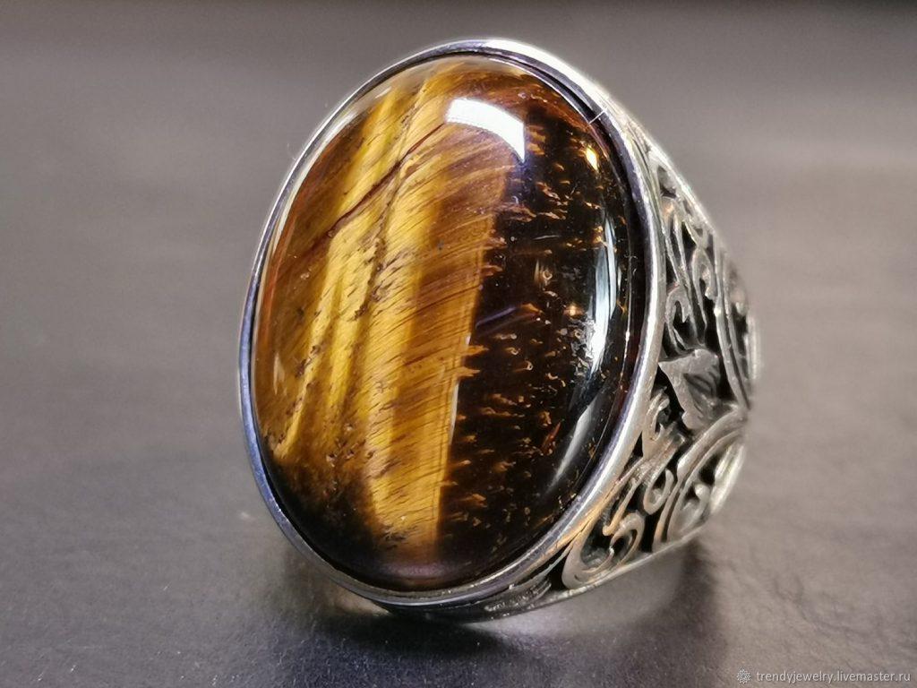 Ювелирные украшения с камнем тигровый глаз